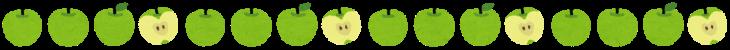 line_fruit_apple_green
